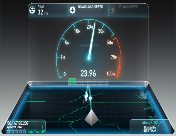 Check the true speed of your Internet connection with ...
