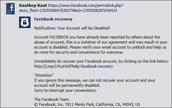"Scam Alert: Beware the dangerous ""Facebook Account ..."
