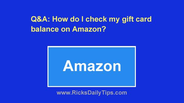 view amazon gift card balance