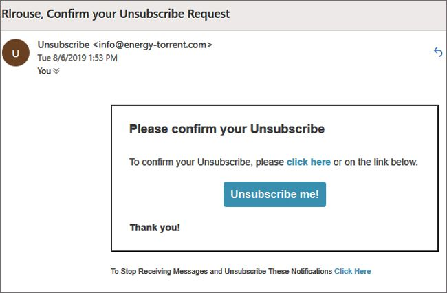 Scam alert: Beware the insidious 'Unsubscribe Confirmation